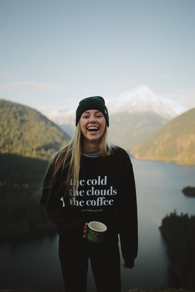 THE PARKS COLD, CLOUDS & COFFEE CREWNECK SWEATER