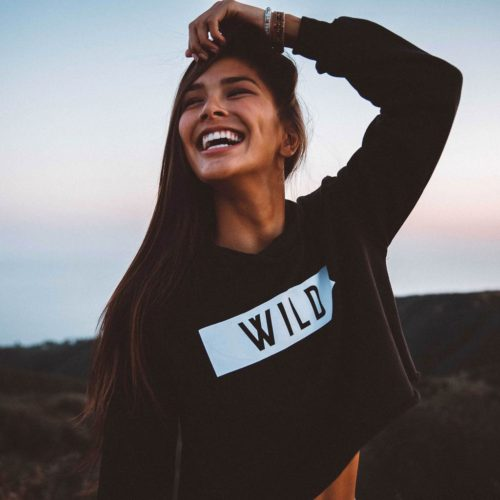THE PARKS WILD CROPPED HOODIE